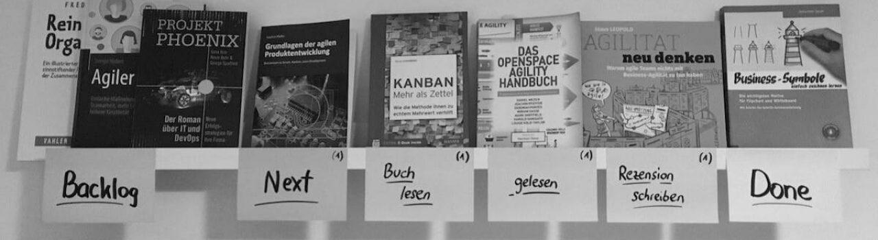 Bücher Backlog für mehr Fokus beim Lesen